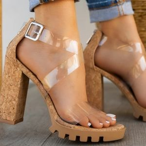 Shoes - 💋Just In 💋New York Cork Sexy Heel
